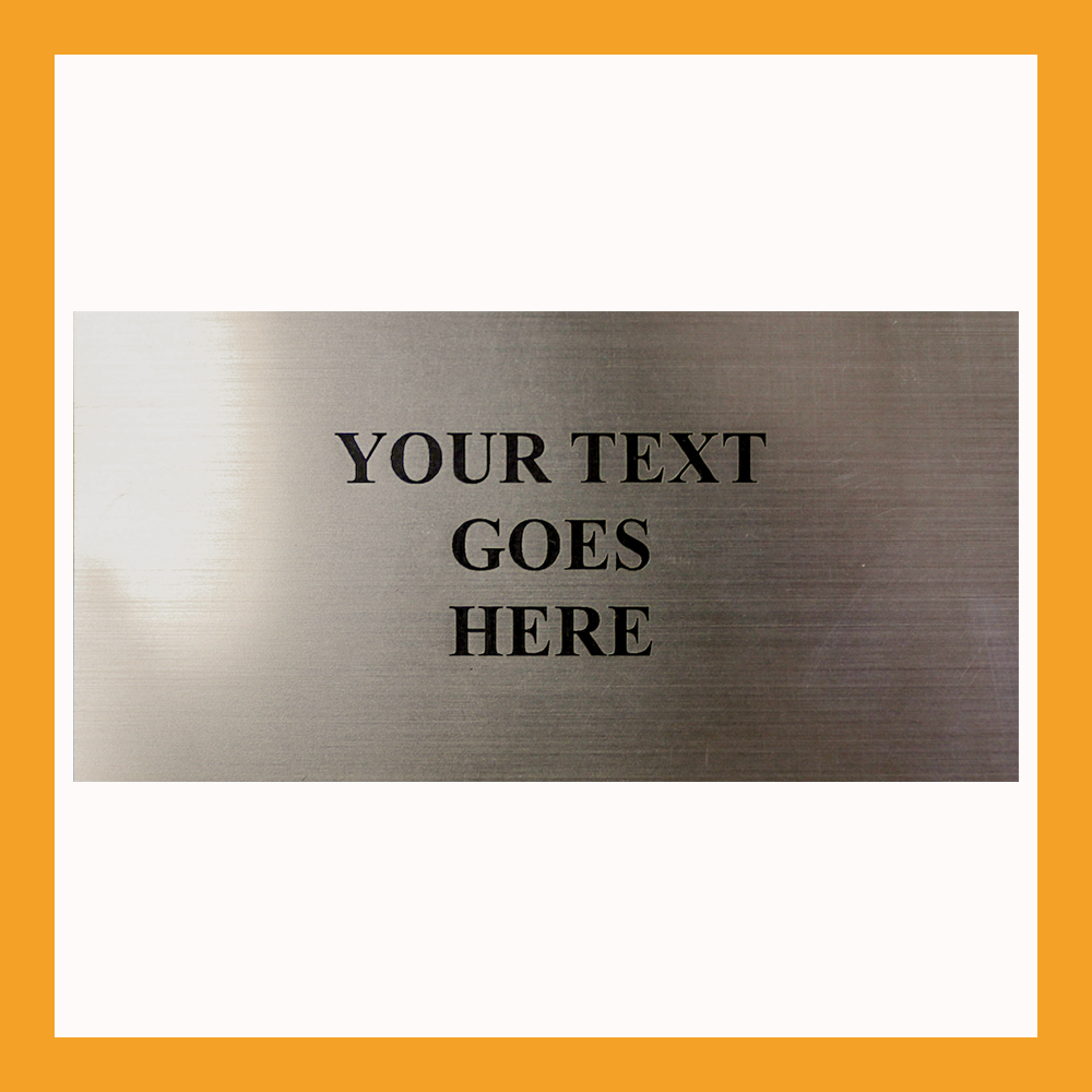 Custom Size | Silver Flexi Plates For Perpetual Plaques & More