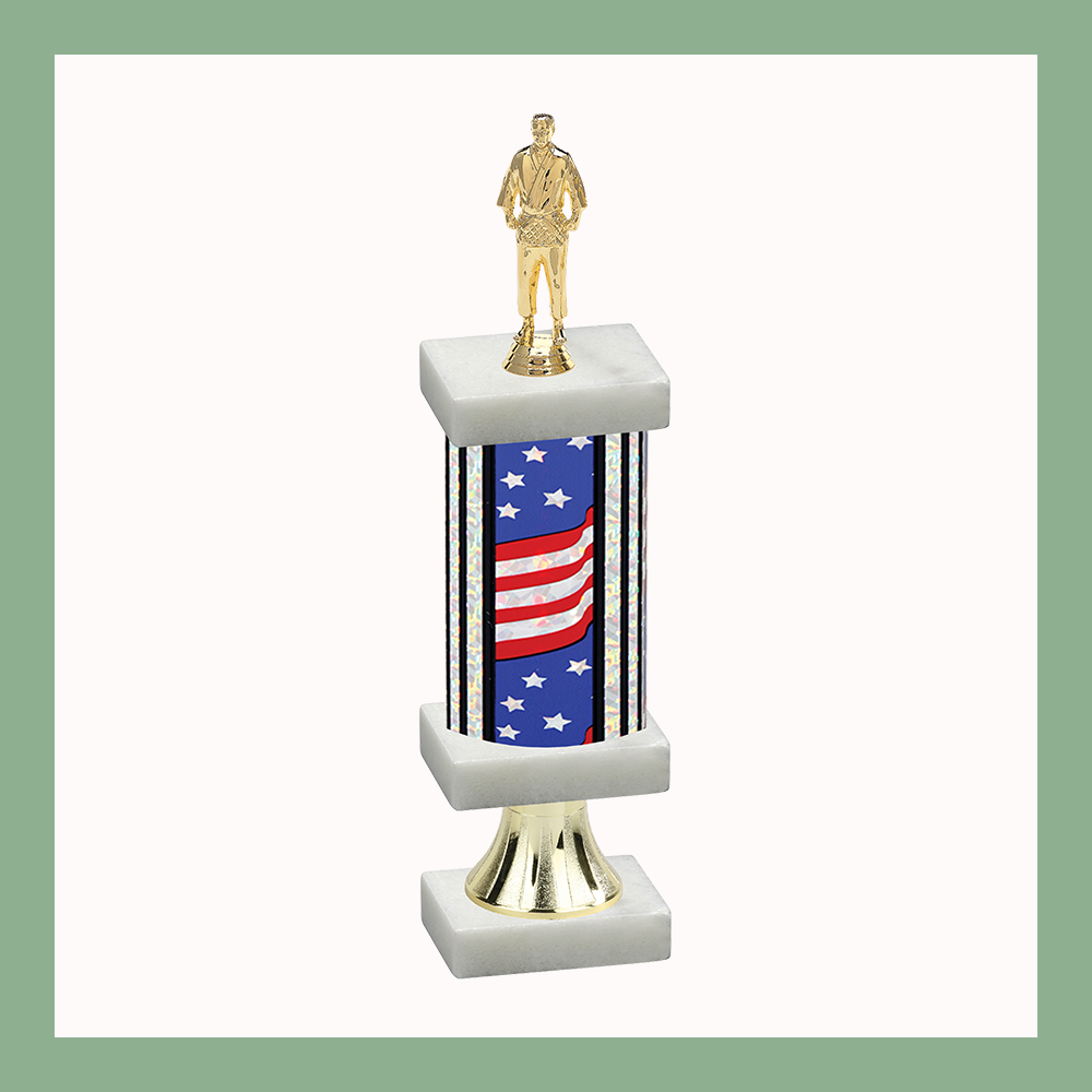 Martial Arts Column Pedestal Trophy