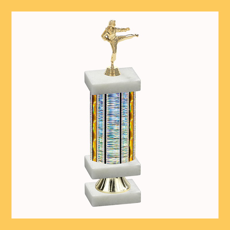 Martial Arts Column Riser Trophy