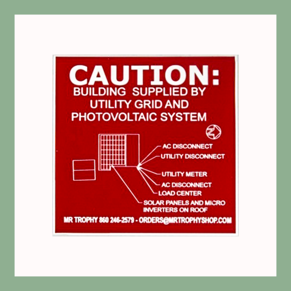Caution Placard - Customer's Product with price 225.00 ID matG8IPnBLMlyYyPsWUpHno8