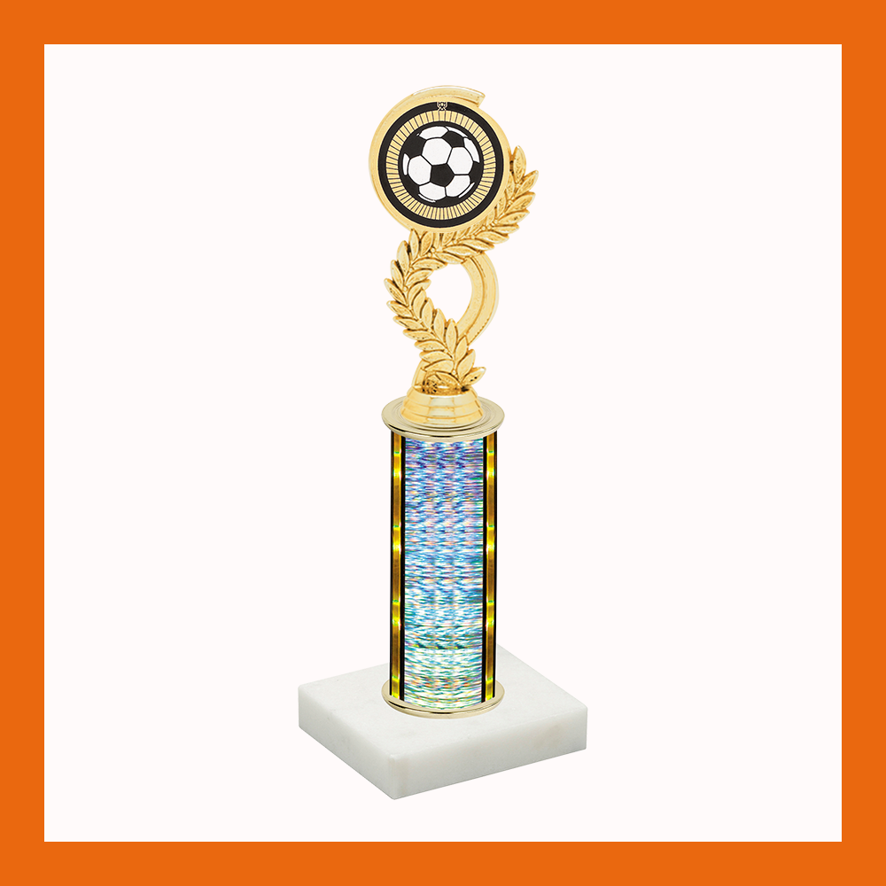 Soccer Laurel Mylar Trophy