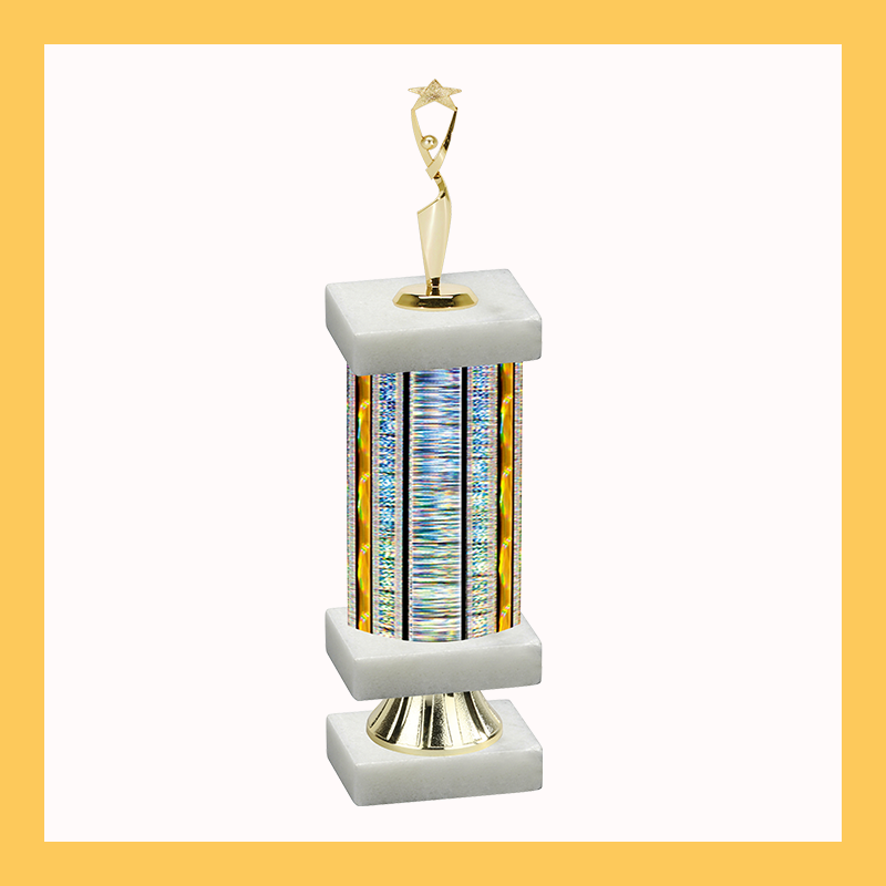 Star Column Riser Trophy