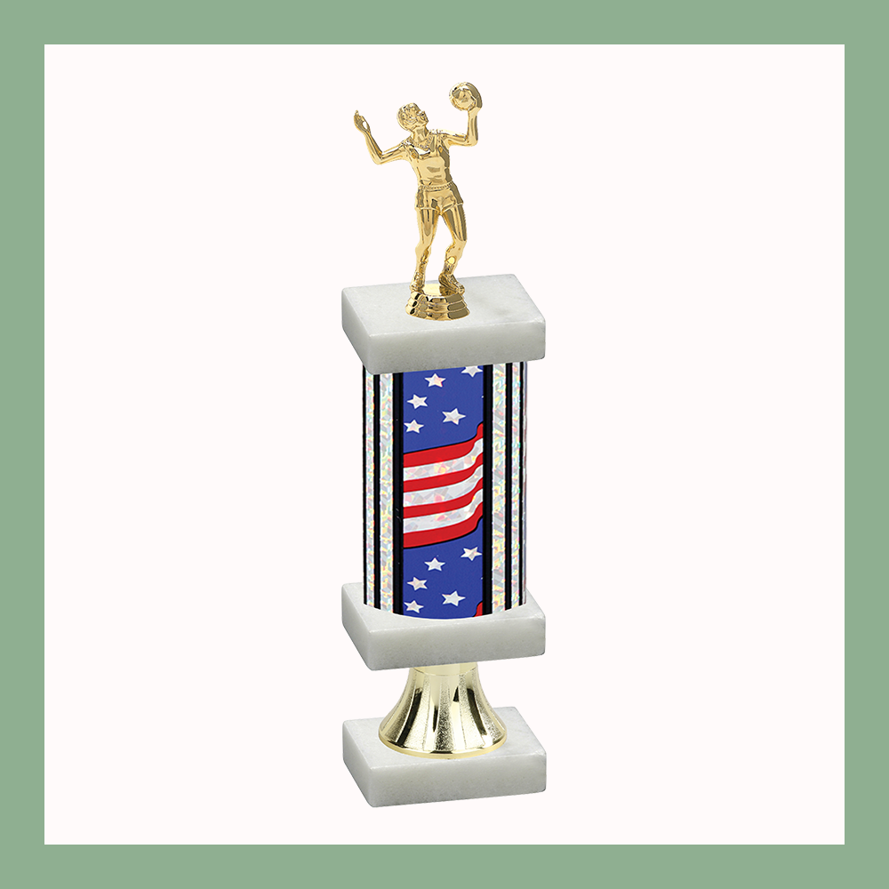 Volleyball Column Pedestal Trophy