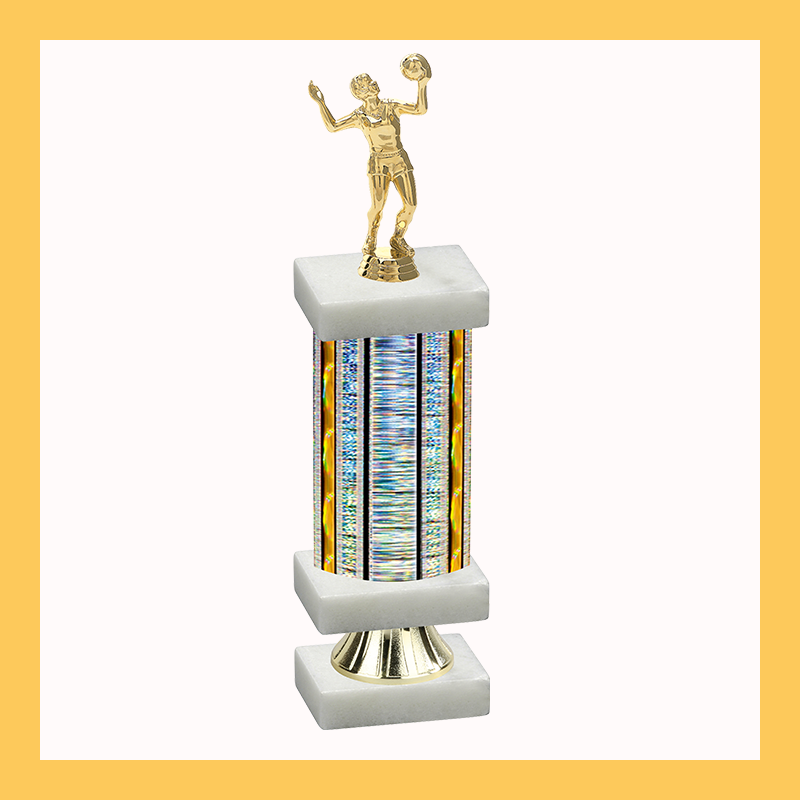 Volleyball Column Riser Trophy