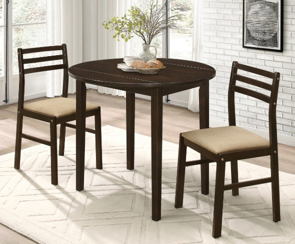 130005 3 Piece Dinette Set w/ Drop Leaf