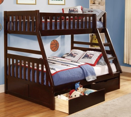 Rowe Twin/Full Bunkbed - Dark Cherry