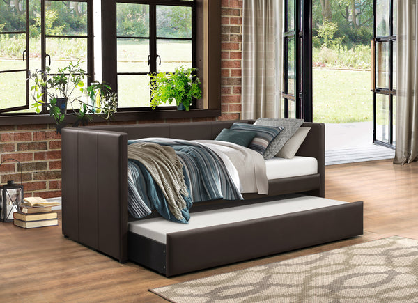Adra Daybed w/ Trundle - Dark Brown