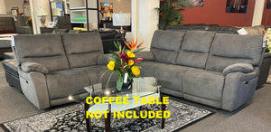 50208 Power Reclining Sofa and Loveseat Set