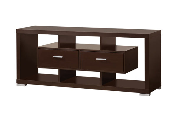 2 Drawer TV Console - Cappuccino