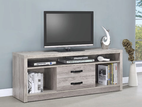2 Drawer TV Console - Grey Driftwood