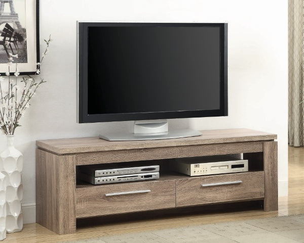 2 Drawer TV Console - Weathered Brown