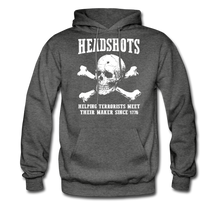 Load image into Gallery viewer, Headshots Hoodie - charcoal gray