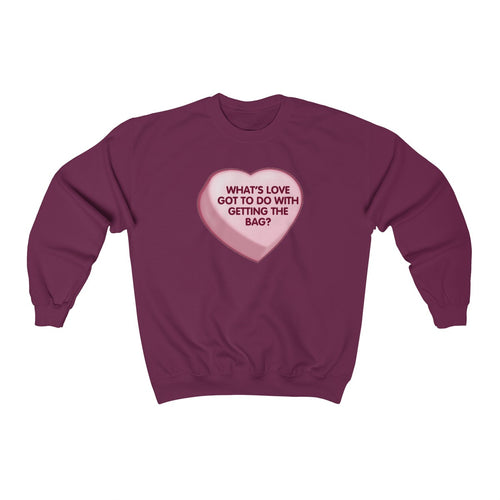 Fuck Love, Get Money V-Day Sweater