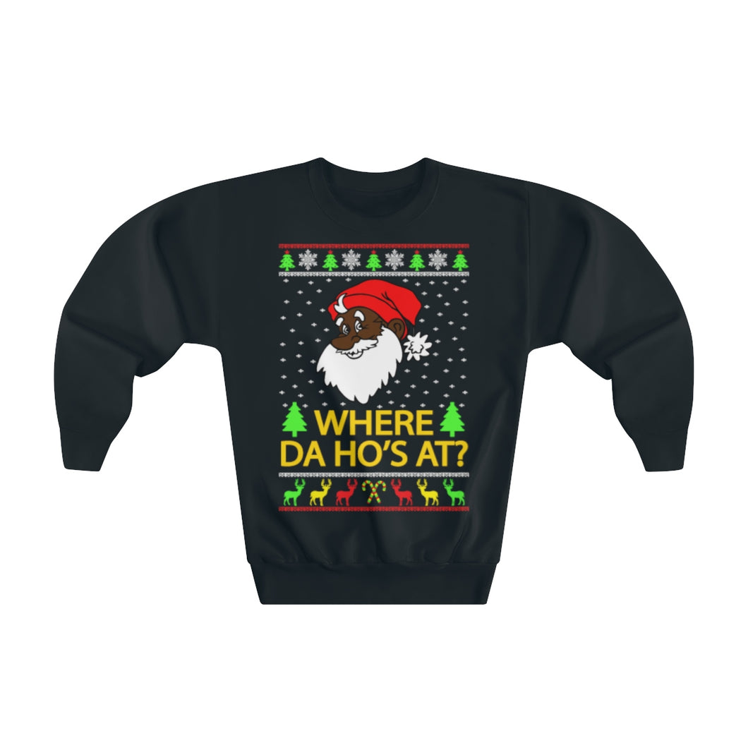 Where Da Ho's At? Ugly Christmas Sweater (Kids)