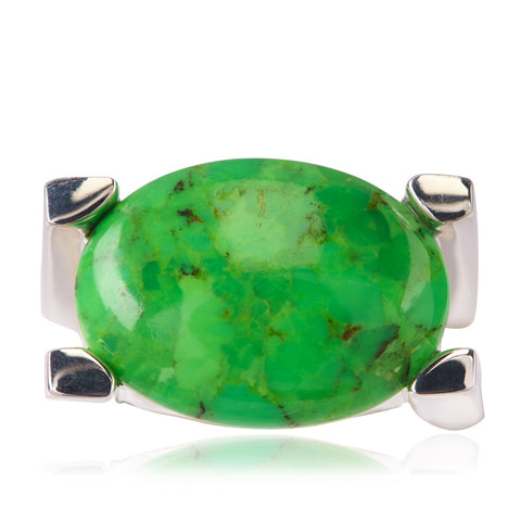 LIME ART DECO RING