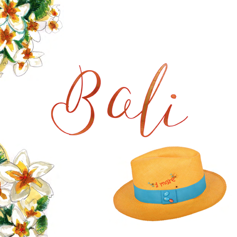 BALI PANAMA HAT AND NECKLACE