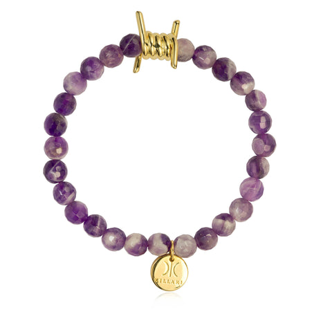 AMETHYST BARBED WIRE BRACELET