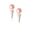 LE PUNK PEARL SILVER EARRINGS