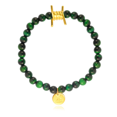 BARBED WIRE HOLIDAY COLLECTION BRACELET (GREEN)