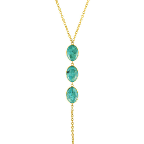 AMAZON GOLD BODY TURQUOISE CHAIN