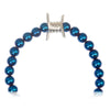PERSIAN BLUE METALLIC BARBED WIRE BRACELET