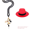 ZANZIBAR PANAMA HAT AND NECKLACE