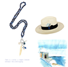 SANTORINI PANAMA HAT AND NECKLACE