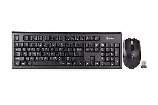 A4TECH: Wireless Keyboard & Mouse Combo USB - 3000N