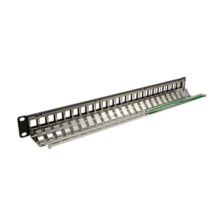 Empty Patch Panel 24 port. with 24 keystones Jack UTP CAT6 Toolless (TL01-KPPi)