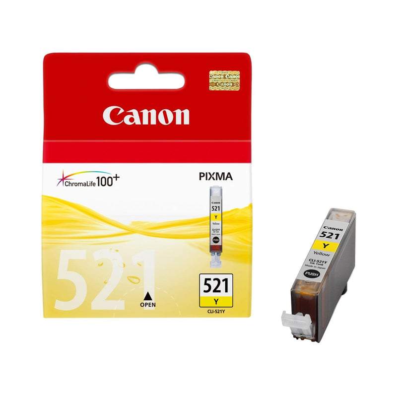 Original Yellow Canon CLI-521Y Ink Cartridge