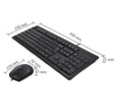 A4TECH : Keyboard & Mouse Combo USB  KRS-8372