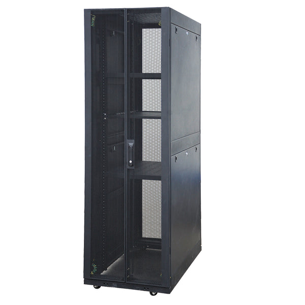 EussoNet 42U - W600*D1000 - Front Metal Perforated -Rear Dual open perforated Server Cabinet MS-APC6042-PP