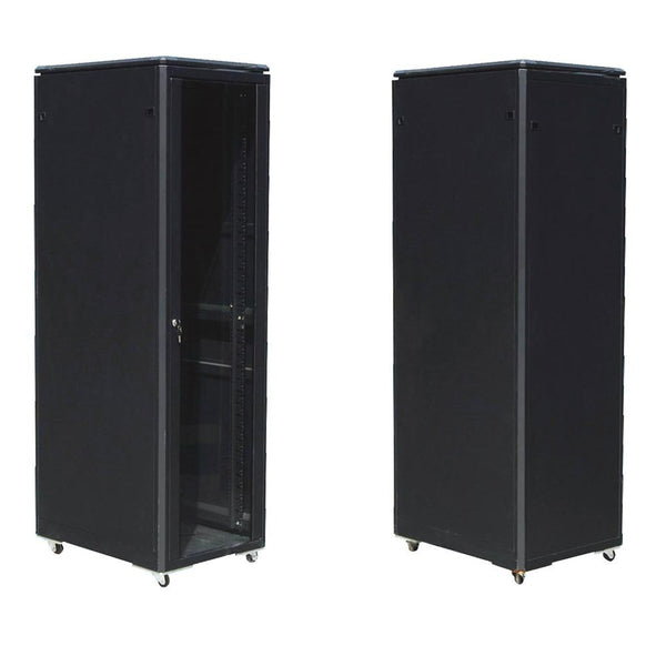 EussoNet 27U Front Glass-Rear Metal-W600*D800 Server Cabinet MS-EJS6827-GM