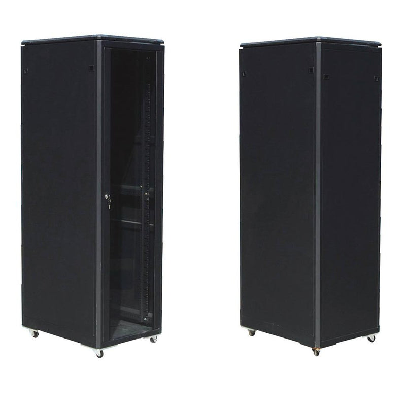 EussoNet 27U - W600*D1000 - Front Glass  Rear Metal - Server Cabinet  MS-EJS6027-GM