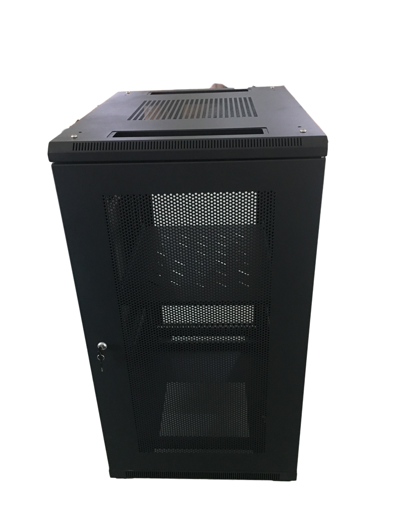 EussoNet 18U Server Cabinet Front Glass - Rear Perforated MS-EJS6818-GP