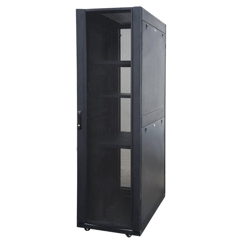 EussoNet 36U - W600*D1000 -Front Glass Rear Perforated Server Cabinet MS-EJS6036-GP