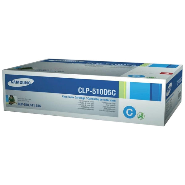 SAMSUNG CLP-510D5C TONER CARTRIDGE CYAN 5K TONER CARTRIDGE