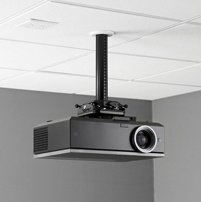 SkyPro Projector Ceiling /wall Mount Adjustable 38cm~62cm -- IB3862 Black/White Cold-rolling steel, Supports up to 8 kg