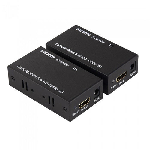 HDMI Extender 100 Meter By Single UTP Cat5e/6 Full HD 1080P 3D with IR Remote Control Signal  (EX-U100M/IR)