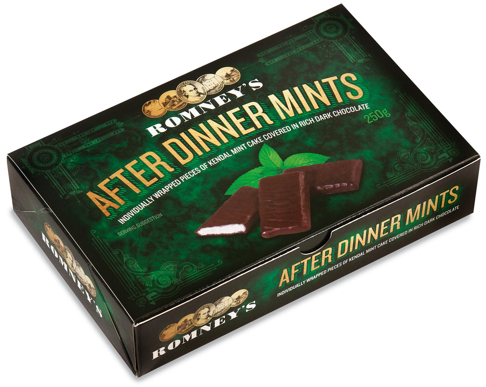 250g Chocolate Covered Kendal Mint Cake After Dinner Mints
