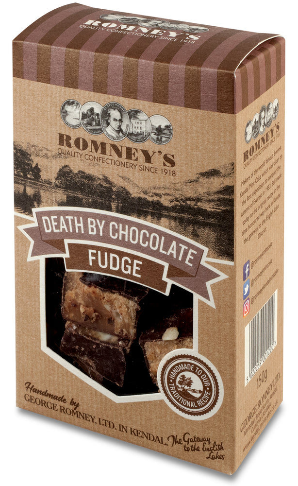 Hand Made Death by Chocolate Fudge Striped Gift Box