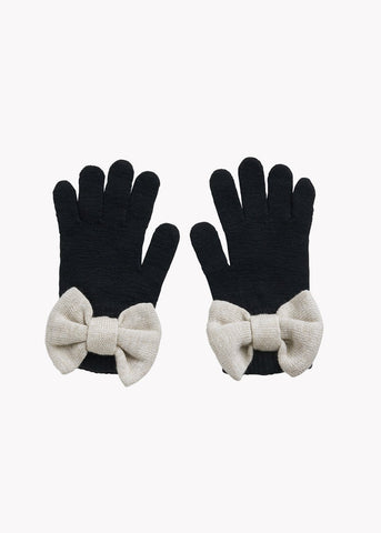 BOW-sormikkaat, Black/Cream Melange, naisten