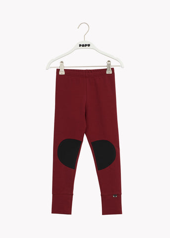 PATCH-leggingsit, Deep Red/Black