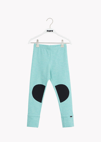 PATCH-leggingsit, Aqua Fuzzy/Black