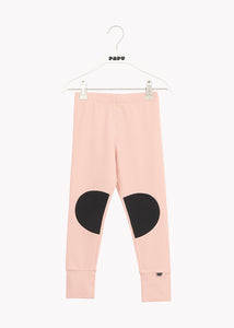 PATCH-leggingsit, Dusty Pink/Black