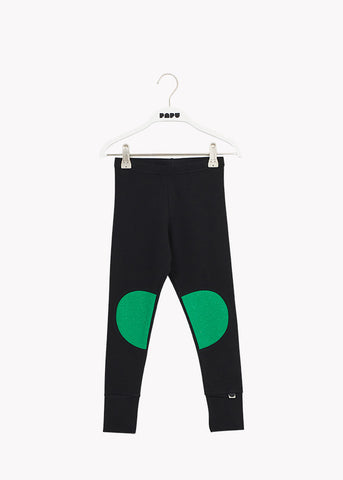 PATCH-leggingsit, Black/Loud Green