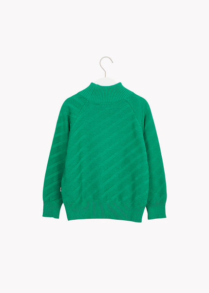 PULLOVER-paita, Structure Knit, Loud Green