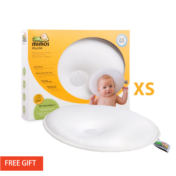 mimos baby pillow flat head