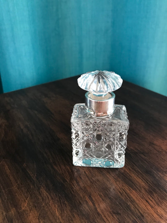 Cut Glass Perfume Bottle  - 6062