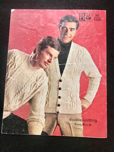Knitting Pattern - Men's Aran Styles